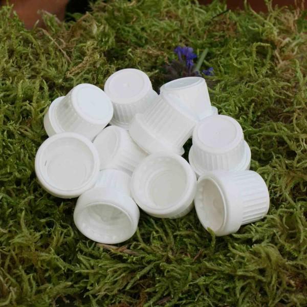 Deckel mit Tropfeinsatz und Originalitätsverschluss für Braunglasflasche (10 Stk.)