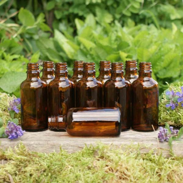 Braunglasflaschen 50 ml (10 Stk.)
