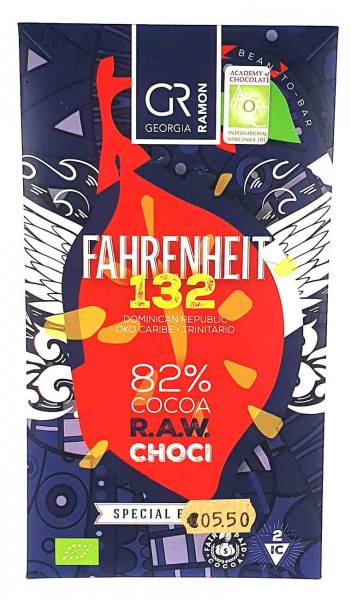 Bio Schokolade Fahrenheit 132 82%