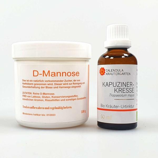 Set: D-Mannose + Bio Kräuterelixier Kapuzinerkresse