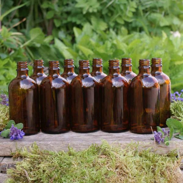 Braunglasflaschen 100 ml (10 Stk.)