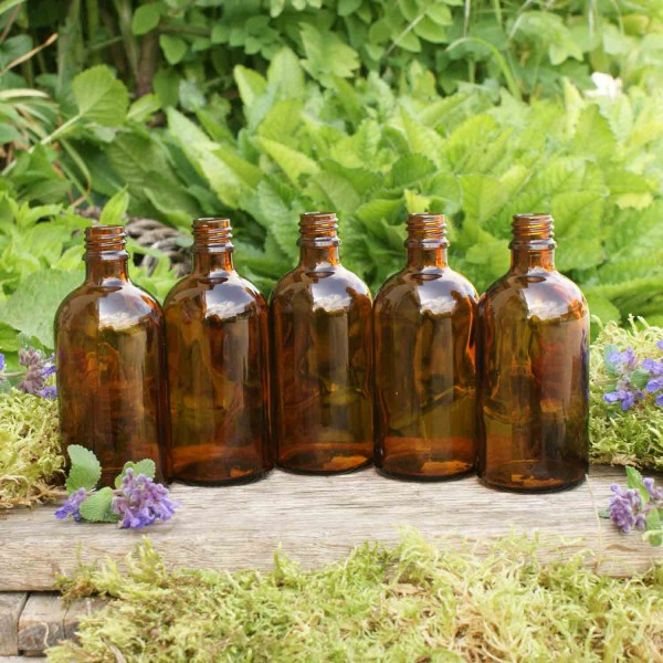 Braunglasflaschen 100 ml (5 Stk.)